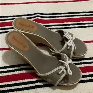 timberland grey sandals used